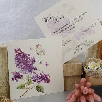 Çiçekli kelebek davetiye