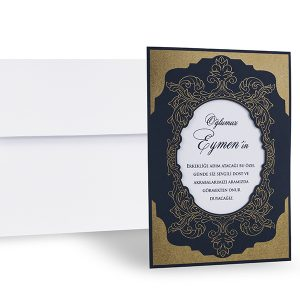 Beyaz zarflı özel sünnet davetiyesi