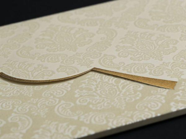 Krem Lüks Davetiye zarfı
