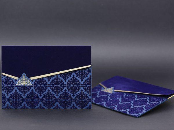 Lacivert mavi davetiye