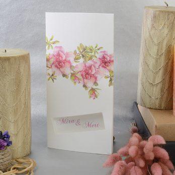 Sade çiçekli davetiye