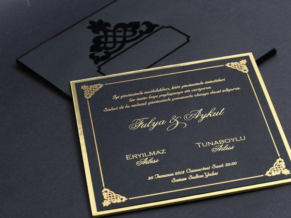 Siyah davetiye baskısı
