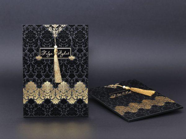 Siyah davetiye modeli 2018
